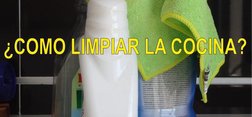 como limpiar la cocina de casa